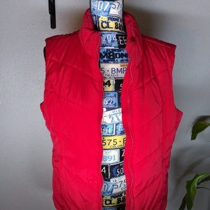 AEROPOSTALE Red Zip Up Vest